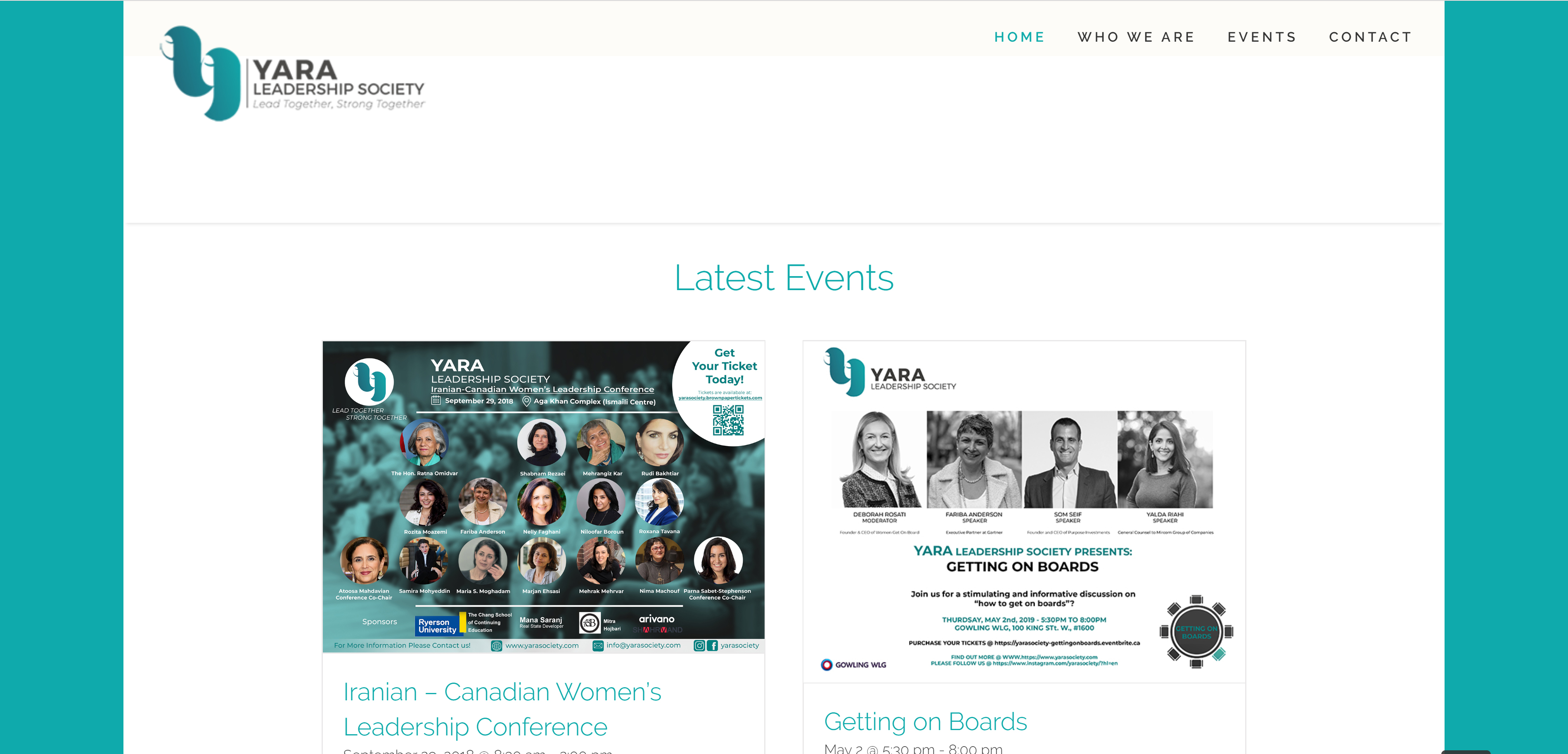 Yara Society Web Design