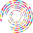 The combination of many circles turning inside each other represent the global connections that always changing and multiple colors represent the multiple of services in web design and marketing we offer for every business around the world.